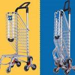 MEYLEE Alliage léger en aluminium Double poignée à double usage Shopping Trolley Folding 8 Wheel Large Capacity Shopper de la marque MEYLEE image 3 produit