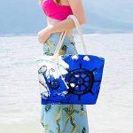 MOOKLIN Sac de Plage Vacances Fourre-Tout Grand Avec Zip, Sac de Shopping Sac fourre-tout à la plage Pour Femme et Filles de la marque MOOKLIN image 3 produit