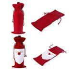 Négocier et petit, Sac de bouteille de vin de Noël étui à cordon de papier cadeau dîner de fête de Noël Boisson Pouch Decor 1 Pack Red Santa de la marque Ragetorc image 1 produit