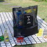 NOVAGO Cabas sac à pique-nique ou à provisions multifonctions pliable et isotherme pour le déjeuner, l'école , la plage et les course de la marque Novago image 4 produit