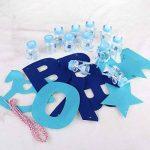 NUOLUX Bébé Feeder Style Bonbon Boîte Bonbons Bouteilles Cadeau avec Lettres Garland Banner pour Partie Décorations (Bleu) de la marque NUOLUX image 3 produit