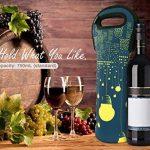 Nuovoware Sac à Vin,Sac Isotherme pour Bouteilles de Vin et d'eau, Protecteur de Bouteille de Vin pour Voyage à Domicile et Pique-nique, Cité Noir de la marque Nuovoware image 4 produit