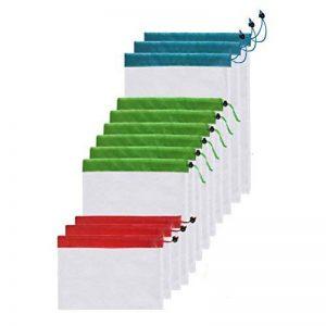 OUNONA Sacs de Courses Pliable Réutilisable Eco Lavable Sacs de Mailles pour Rangement Jouet Légumes Fruits Trois Tailles 12 Pièces de la marque OUNONA image 0 produit