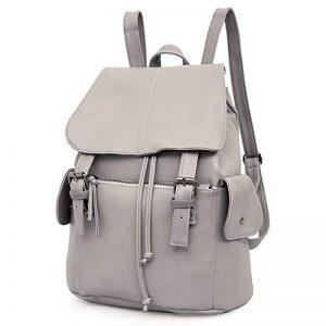 Outreo Sac à dos Femme Sac en Cuir Sac de Cours Sacs à Main Backpack Sac Vintage Bag pour école Université occasionnels loisir PU Sacoche Rétro Pack de la marque Outreo image 0 produit