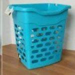 Panier à linge sur roulettes bleu avec poignée rétractable, 2 casiers, trieur blanchisserie, couleur, lingerie caddie pour shopping (22218) de la marque Wilai image 1 produit