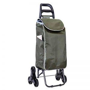 Panier Portable Trolley à Trois Roues avec la Conception Se Pliante de Seat, Chariot s'élevant d'escalier avec la Grande capacité Panier Pliable de la marque YUAN-chariot image 0 produit