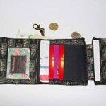 Petit portefeuille compact pratique et original pour homme gaucher simili-cuir marron tissu liberty cuir porte-cartes voilier dans bouteille de la marque Maerchenland image 2 produit