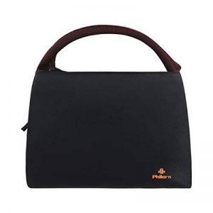 Philorn Sac Repas Lunch Bag Déjeuner Boite Isotherme Fourre-tout pour Le École et Le Travail, Noir de la marque PHILORN image 0 produit