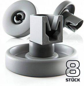 Plemont Lot de 8 roulettes universelles pour panier inférieur/supérieur de lave-vaisselle, gris, Unterkorb Rollen de la marque Plemont image 0 produit