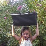 Pliable Carry-Bag refermable, Panier à Provision Robuste My Basket to GO, Sac pour Shopping, Camping, Pique-Nique, léger avec Fermeture, Confortable Anse, résistant à l'eau Couleur Noire de la marque MY TO image 3 produit