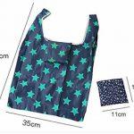 Polyester Sac à provisions réutilisable Sacs de courses pliable pour extérieur, Lot de 5 de la marque Ruisen image 3 produit