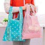 Polyester Sac à provisions réutilisable Sacs de courses pliable pour extérieur, Lot de 5 de la marque Ruisen image 1 produit