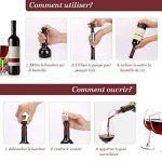 Pompe à Vin, Aérateur de Vin Pompe à Vide Conserver Vin un Kit de la Protection de Vin avec 1 Pompe + 4 Bouchons + 2 Verseurs, Matériel de Qualité Alimentaire avec Emballage Cadeau de la marque ieGeek image 4 produit