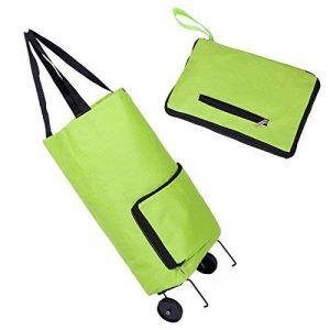 Portable Pliable Sac à provisions et à roulettes chariot tirer Package Shopping Sac de voyage réutilisable Vert Sac de shopping de la marque Acycee image 0 produit