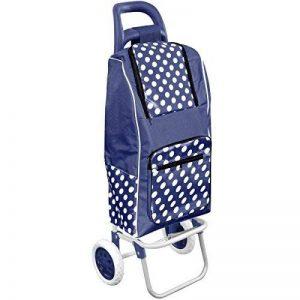 Promobo Chariot De Courses Shopping A Roulettes Isotherme A Pois Bleu 30L de la marque Promobo image 0 produit