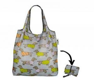 Re-Uz Sac de courses pliable réutilisable Shopping Sac à provisions–Flamingo Moutarde de la marque Re-Uz image 0 produit