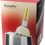 Refroidisseur de vin à double paroi – Fabriqué en acier inoxydable de haute qualité – Design élégant à la surface mat brossée – Garantit la fraîcheur de vos vin à chaque fois – sans BPA – Refroidisseur de bouteilles de vin de la marque Innovee Home image 2 produit