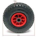 Roue de rechange pour diable professionnel - Petit chariot à sac H-T2046 (3.00-4) Roulement Ø 21 mm de la marque WilTec image 1 produit