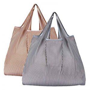 réutilisables Shopping Sacs–Sacs à provisions pliable respectueux de l'environnement pour le shopping l'organisation 2 Pack B de la marque Etercycle image 0 produit