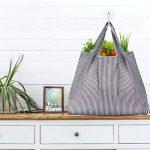 réutilisables Shopping Sacs–Sacs à provisions pliable respectueux de l'environnement pour le shopping l'organisation 2 Pack B de la marque Etercycle image 1 produit