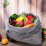 réutilisables Shopping Sacs–Sacs à provisions pliable respectueux de l'environnement pour le shopping l'organisation 2 Pack B de la marque Etercycle image 3 produit