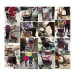 S-L-C Elderly Scooter Folding Shopping Cart Seat peut prendre quatre tours pour acheter de la nourriture pour aider à pousser un petit chariot chariot âgé chariot ( Couleur : C-Red ) de la marque BJL Caddie image 3 produit