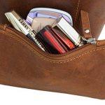 """Sac cabas - Gusti Leder studio """"Cassidy"""" sac en cuir vintage sac de shopping rétro sac à main sac en bandoulière sac de loisirs homme femme cuir de vachette marron 2H51-33-1 c de la marque Gusti image 4 produit"""