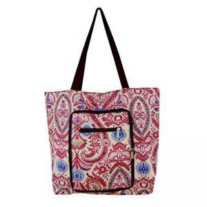 Sac cabas Millya étanche et pliable, grand sac shopping, voyage, sac de recyclage avec poche latérale, Oxford, violet, Taille L de la marque Millya image 0 produit