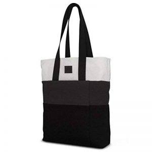74642dd041 Sac cabas pour courses homme & femme gris - sac en coton fourre-tout  shopper Johny Urban