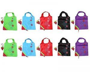Sac de Course Réutilisable Pliable Shopping Eco Sacs Porté épaule avec pochette de rangement de la marque SKL image 0 produit