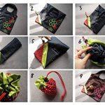 Sac de Course Réutilisable Pliable Shopping Eco Sacs Porté épaule avec pochette de rangement de la marque SKL image 1 produit