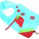 Sac de Course Réutilisable Pliable Shopping Eco Sacs Porté épaule avec pochette de rangement de la marque SKL image 2 produit