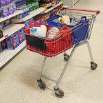 Sac à provisions réutilisable Vaiigo, grands sacs de shopping solides sacs d'épicerie supermarché chariot de courses sac chariot de courses (lot de 2) rouge/bleu de la marque VAIIGO image 1 produit