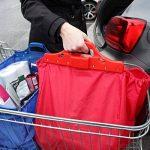 Sac à provisions réutilisable Vaiigo, grands sacs de shopping solides sacs d'épicerie supermarché chariot de courses sac chariot de courses (lot de 2) rouge/bleu de la marque VAIIGO image 2 produit