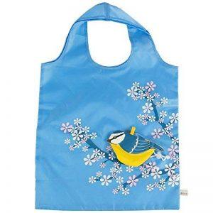 Sac shopping pliable respectueux de l'environnement Motif oiseau bleu de la marque RJB Stone image 0 produit