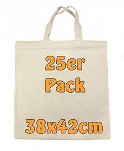 Sacs cabas en coton avec 2 petites anses Écru vierge d'impression 38x 42cm Lot de 25 de la marque Cottonbagjoe image 0 produit