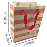 Sacs cadeaux Medium - 12 pcs Panier sac de papier de Noël, sacs-cadeaux de fête d'anniversaire [23 x 18 x 10 cm] de la marque NimNik image 1 produit