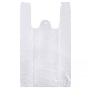Sacs en plastique à poignées Sachet housse pochette Shopping cadeau boutique courses supermarché blanc/bleu 100/200pcs de la marque Anladia image 0 produit