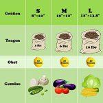 Sacs Réutilisables à Fruits et Légumes,Sac de Provisions en Coton Lot de 4 Sacs à Grille| Sac Alimentaire(1*S, 2*M, 1*L) de la marque HogarTech image 2 produit