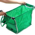 Samber Sac à Courses Pliable Sac de Courses Réutilisable pour Chariots avec Poignées Poche de Commissions Shopping Bag Pliable Tissu Non-Tissé (1pc) de la marque Samber image 4 produit