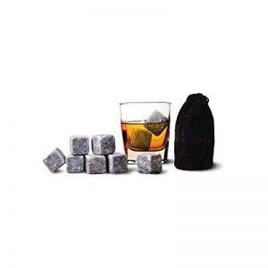 SAVFY® Lot de 9 Pierres à Whisky/Whisky Rocks Pierres/Glaçons stéatite/Glacons en Pierre/Vodka Gin/Spiritueux Vins LIQUEURS vin Bev refroidisseurs avec sac de la marque SAVFY image 0 produit