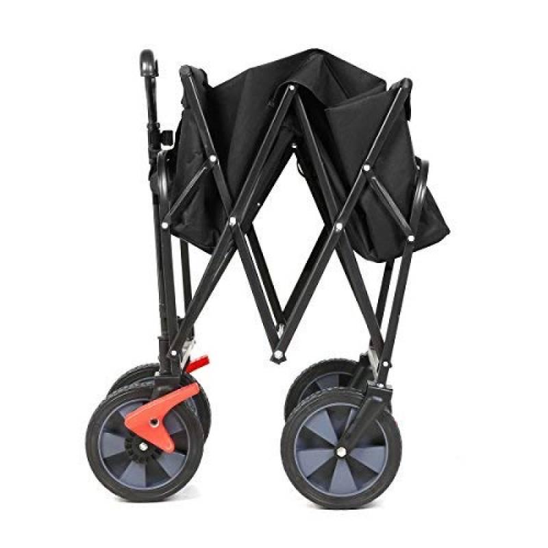 Noir Sekey Chariot de Jardin Pliable Chariot de Transport Charrette Pliable Charrette /à Main Pliant