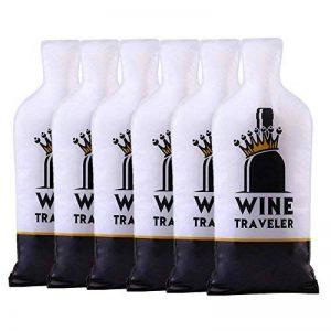 Selric Lot de 6 Sacs pour bouteilles de vin, Sacs gonflables pour le transport de la boîte de conserve pour bouteille de vin, Sac anti-choc et anti-déflagrant de la marque Selric image 0 produit