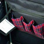 Sholley Chariot Deluxe 'The Balmoral' - Chariot de Courses pliable Motif tartan Rouge et Noir, Caddie de Courses forte, Pousette de marché, 4 roues, 6 roues (Petite) de la marque Sholley image 1 produit