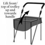 Sholley Chariot Deluxe 'The Balmoral' - Chariot de Courses pliable Motif tartan Rouge et Noir, Caddie de Courses forte, Pousette de marché, 4 roues, 6 roues (Petite) de la marque Sholley image 4 produit