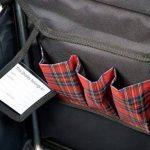 Sholley Chariot Deluxe 'The Balmoral' - Chariot de Courses pliable Motif tartan Rouge et Noir, Caddie de Courses forte, Pousette de marché, 4 roues, 6 roues (Régulier) de la marque Sholley image 1 produit
