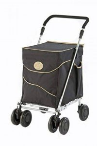 Sholley Deluxe Chariot de Courses, Caddie Pliant dans Noir et Beige. Petit est pour les Personnes 161cm et moins. de la marque Sholley Trolley Ltd image 0 produit