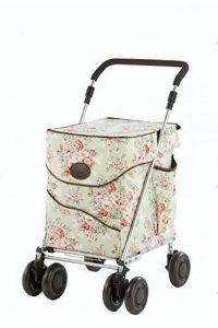 Sholley Deluxe Chariot de Courses, Caddie Pliant Edition Spéciale Jackie Clover dans un Motif Floral Pâle, Régulier est pour les Personnes 162cm et plus. de la marque Sholley image 0 produit