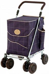 Sholley Petit Deluxe Chariot de Courses, Caddie Pliant dans un Chèque Bleu, Petit pour les Personnes de 161cm et moins de la marque Sholley Trolley Ltd image 0 produit
