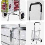 Shopping trolley XM ZfgG Chariot en Aluminium léger de Chariot de Bagage de Chariot à achats Roulant à Roues 2 Roues de la marque Shopping trolley XM image 2 produit
